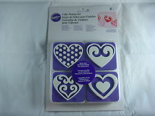 Wilton Cake Stamp Set - Hearts - 4 Piece Set - Cake Decorating