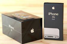 RARE NEW Apple iPhone 3G 8gb Sealed in Box + New Original Dock Station