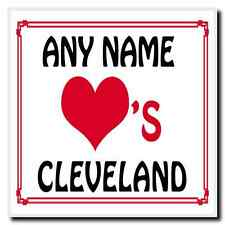 Love Heart Cleveland Personalised Coaster