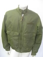 POLO JEANS Green Nylon Military WEP Bomber Jacket Size LARGE