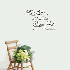 Wall Sticker Psalm 46:10 Be Still And Know That I Am God Bible Quote Vinyl Decal