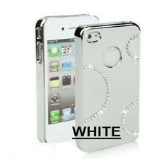 iphone 4 4s white bling cover case with Swarovski Crystal * Protector included*