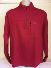 Men's Greg Norman Golf  1/3 Zip Tasso Elba Sweatshirt Large Red Pullover Sweater