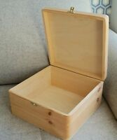Wooden Box Crate Case with Lid Storage Paint Decoupage