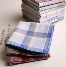 15x Mens HANDKERCHIEFS 100% Cotton Pocket Square Hanky Handkerchief 40x40cm