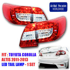 FIT TOYOTA COROLLA GEN4 ALTIS ANZO 2011 2012 13 TAIL LAMP LED REAR LAMP LIGHTS