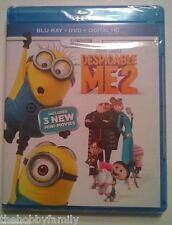 DESPICABLE ME 2 w/ 3 Mini-Movies Combo Blu Ray, Dvd, And Digital Code HD NEW