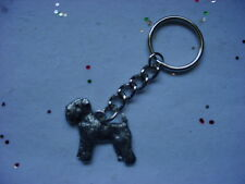 WHEATEN TERRIER Silver PEWTER DOG KEYCHAIN or CHRISTMAS ORNAMENT Key Chain Ring