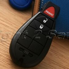 Car Keyless Entry Key Shell Case Fob Pad Cover for DODGE Chrysler Fobik 3 Button