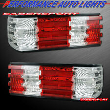 1981-1991 MERCEDES BENZ W126 S-CLASS 2DR 4DR RED CLEAR TAIL LIGHTS PAIR