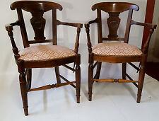 Jolie paire de fauteuil époque Directoire en bois fruitier