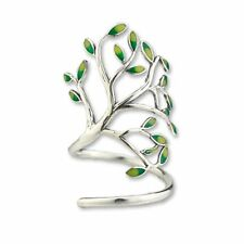 Sterling Silver New Age Cork Screw Tree of Life Jewelry Ring - One Size (US 7)
