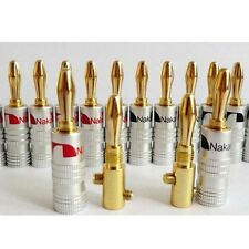 New 24pcs 24K Gold 4MM Nakamichi Speaker Audio Banana Plug Screw Cable Connector