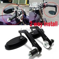 "BLACK 7/8"" HANDLE BAR END MIRRORS FOR DUCATI MONSTER 620 696 796 821 1100 1200 S"