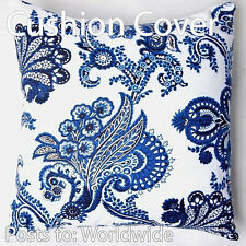 2xChinese Blue and white Flowers ANTIQUE Throw Cushion Cover/European Pillowcase