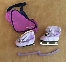 Mia Purple Ice Skates & Bag skating American Girl doll GOTY retired