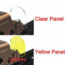 Protector Screen 2 Lens Cover Shield Panel 20mm Rail Mount 4 Rifle Scope Sight