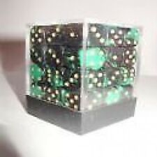 PACK OF 36 OBLIVION GREEN DICE- 6 SIDED & 12mm SIDES!!