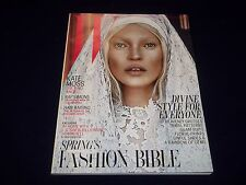 2012 MARCH W MAGAZINE- KATE MOSS - BEAUTIFUL FASHION ISSUE MODELS- D1696