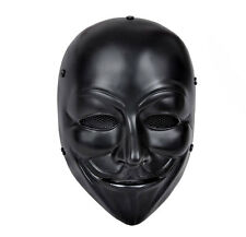 Black Airsoft Paintball Full Face Wire Mesh Protection V for Vendetta Mask M0527