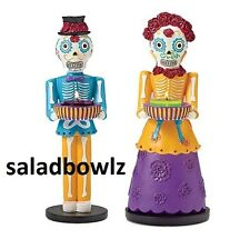 PARTYLITE New SENOR & SENORITA TEALIGHT HOLDER PAIR P91989 fREE sHIP ~ Halloween