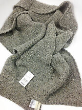 Ferruccio Vecchi Donegal Knit Scarf Grey One Size Made In Italy