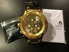New Nixon Watch A037502 42-20 Chrono All Gold A037-502 with tags Free Shipping