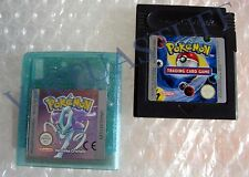 POKEMON CRISTALLO + TRADING CARD GAME, ITALIAN MARKET, BATTERIA NUOVA, ONLY CART