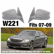 Mercedes Benz W221 Side Mirrors Pair Facelift S550 S600 S63 S65