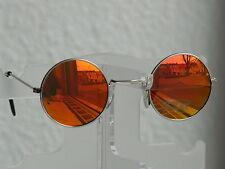 Sonnenbrille Herrenbrille Nickelbrille runde Gläser42mm braun verspiegelt P-1140
