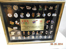 1988 Olympic Pin Framed Set - Team Mascots - Series 1-C