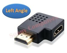New HDMI Female to Male 90 Degree Left Angle M/F Vertical Flat Adapter Connector