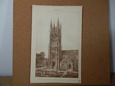 Antique Architects print Church Of St Patrick Coleraine The Builder 1889