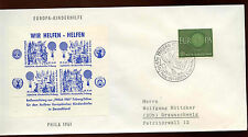 West Germany 1961 Air Balloon Blue Souvenir Sheet Special Event Cover #C15382