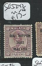 MALAYA JAPANESE OCCUPATION PAHANG (PP0803B) 10C DN SG J242  MNH