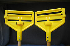 "1-Lot of 2 Rubbermaid Commercial Side Gate Wet Mop 60"" Long Wood Handles (M3726)"