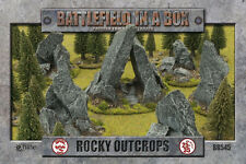 Rock Outcrops Battlefield in a Box Prepainted Terrain BB545 Brand New