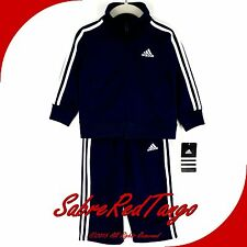 NWT ADIDAS PERFORMANCE BABY TODDLER TRACKSUIT TRACK SUIT AG5456 NAVY WHITE 18 M