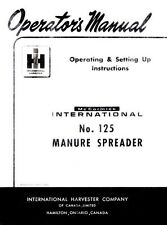 INTERNATIONAL 125 Manure Spreader Operators Manual
