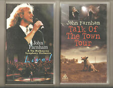 John Farnham- Talk of the Town -AND- Melbourne Symphony:LIVE-2 rare concerts-oop