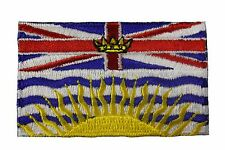 BRITISH COLUMBIA CANADA PROVINCIAL FLAG IRON-ON PATCH CREST BADGE.. NEW
