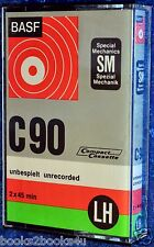 BASF LH SM C 90 BLANK AUDIO CASSETTE TAPE - RIGHT HINGED