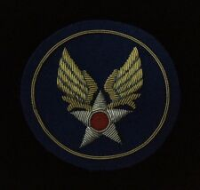 USAAF SHOULDER PATCH - WWII - SILVER & GOLD BULLION Finest Quality Reproduction