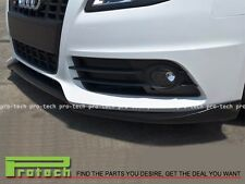 P Type Carbon Fiber Front Bumper Lip Fits For 2009-2011 Audi S4 B8 Pre Facelift