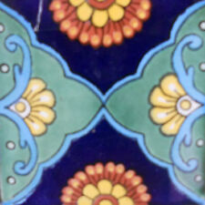90 MEXICAN CERAMIC TILES WALL OR FLOOR USE CLAY TALAVERA MEXICO POTTERY #C095