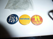 Rival schools badge set 3 badges original promo items