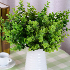 7-Branches Artificial Fake Plastic Eucalyptus Plant Flowers Office Adornment  R