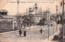 MARSEILLE exposition coloniale 1906 INDOCHINE avenue annam photo baudoin-vincent