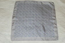 MENS E MARINELLA SILK SILVER/GREY POCKET SQUARE/HANDKERCHIEF. NEW