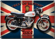 LGE A3 SIZE BSA GOLDSTAR MOTORCYCLE METAL SIGN.VINTAGE BSA MOTORCYCLE.